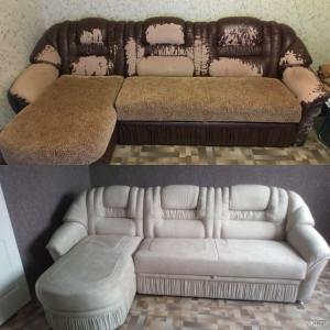 Перетяжка мягкой мебели